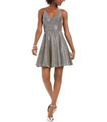 xscape glitter fit & flare dress