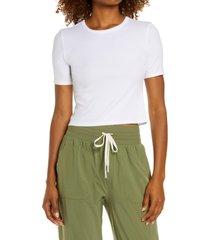 women's zella method rib crop t-shirt