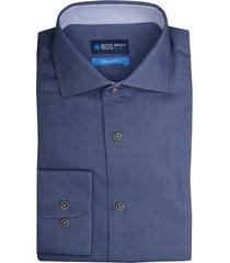 bos bright blue wesley dressual shirt 19306we08bo/240 blue