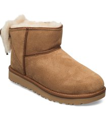 w classic mini bow shoes boots ankle boots ankle boot - flat beige ugg