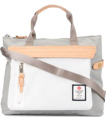 as2ov contrast panel tote - grey