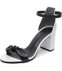 sandalia blanco/negro loucos & santos