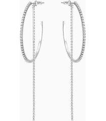 orecchini a cerchio fit, bianco, acciaio inossidabile