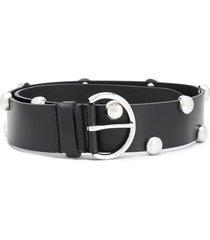 isabel marant round-studded belt - black