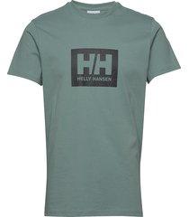 hh box t t-shirts short-sleeved grön helly hansen