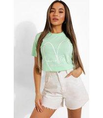 petite self love t-shirt, mint