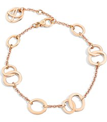 pomellato brera 18k rose gold adjustable chain bracelet, size 7 at nordstrom