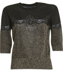 dolce & gabbana lace detailed sweater