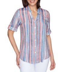 ruby rd. petite striped utility shirt