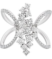 diamond open-work ring (1 ct. t.w.) in 14k white gold