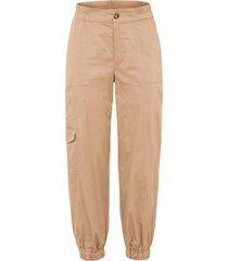 pantaloni con elastico al fondo (beige) - rainbow