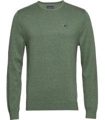 bradley crew neck sweater gebreide trui met ronde kraag groen lexington clothing
