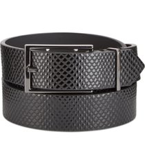 inc men's flat strap belt, created for macy's