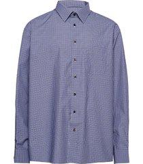 classic fit business casual fine twill shirt skjorta casual blå eton