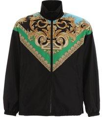 versace barocco print jacket