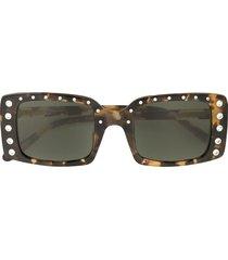 nº21 crystal-embellished square sunglasses - c2sun