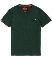 t-shirt orange label vintage groen