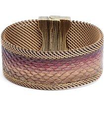 cynthia desser ombre washed leather bracelet in bronze/rose gold/burgundy at nordstrom