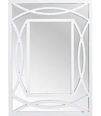 lustro w ramie moroccan białe