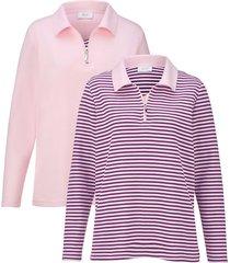 sweatshirt dress in roze::wit