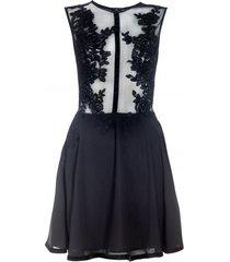 sukienka z koronki i szyfonu