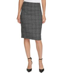 dkny petite tweed pencil skirt