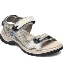 offroad shoes summer shoes flat sandals silver ecco