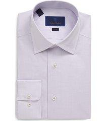 men's big & tall david donahue slim fit micro print dress shirt, size 16.5 - 36/37 - pink
