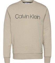 cotton logo sweatshi sweat-shirt trui grijs calvin klein
