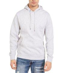 guess men's roy pop over logo hoodie