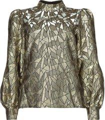 jaquard blouse doyes  goud