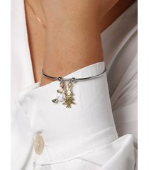 christmas tree snowman handmade bangle bracelet
