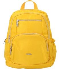mochila mujer sea backpack amarillo azaleia