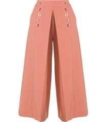 high waisted pleat front trousers