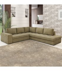 sofá de canto golias 5 lugares 12915 neve - viero móveis
