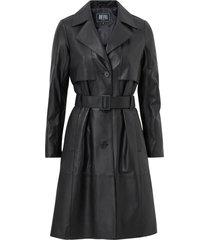skinnkappa jill leather trench coat