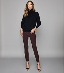 reiss tyne - skinny trousers in berry, womens, size 10