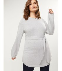 lane bryant women's belted tunic sweater 14/16 heather gray