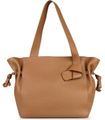 esin akan kensington leather tote bag