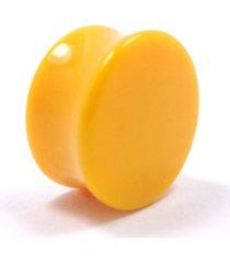 alargador plug vintage alargadores amarelo leitoso