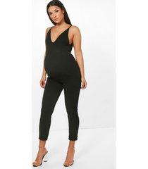 zwangerschap broek met omgeslagen pijpen, zwart