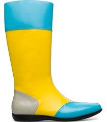 camper lab kiko kostadinov, stivaletti uomo, beige/giallo/blu, misura 46 (eu), k300325-003