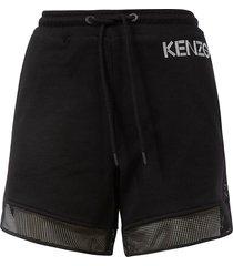 kenzo side logo drawstring shorts