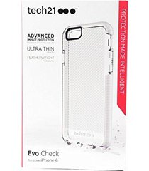 tech 21 tech21 - evo check case for apple iphone 6 and 6s - clear/white