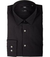 hugo boss overhemd isko zwart slim fit 50413741/001