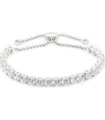 adriana orsini women's crystal bolo bracelet