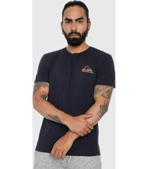 camiseta azul navy-multicolor quiksilver mirror play