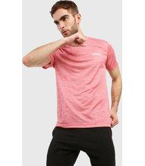 camiseta rosa adidas performance designed 2 move heather