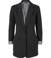 blazer lungo in jersey (nero) - bpc bonprix collection
