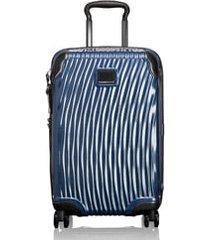tumi latitude 22-inch international rolling carry-on - blue